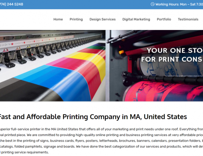 Printing Services in Boston